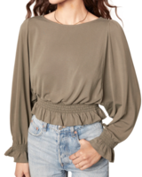 BB Dakota Sleeve To Believe Blouse