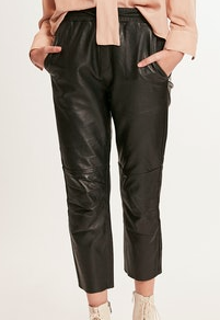 Deluc Faux Leather Joggers