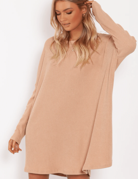 Toby Heart Ginger Ruby Ribbed Dress