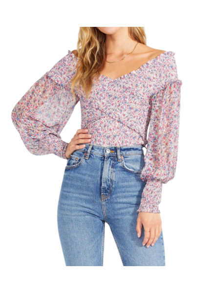 BB Dakota Criss-Cross Blouse