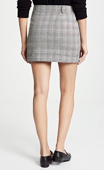 BB Dakota Plaid Skirt