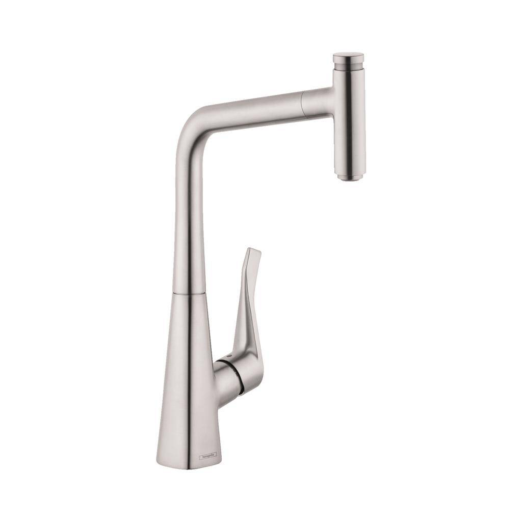 Hansgrohe 14884801 Metris Select Higharc Pull Out Kitchen Faucet