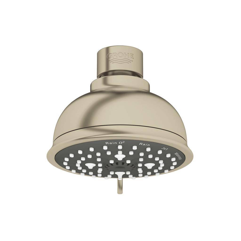 Grohe 26045en1 Tempesta Rustic 100 Shower Head 4 Sprays Brushed Nickel
