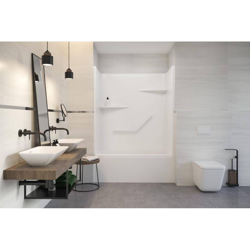 Mirolin Tss52 Sutton Two Piece Soaker Tub Shower End 2 Drain Right