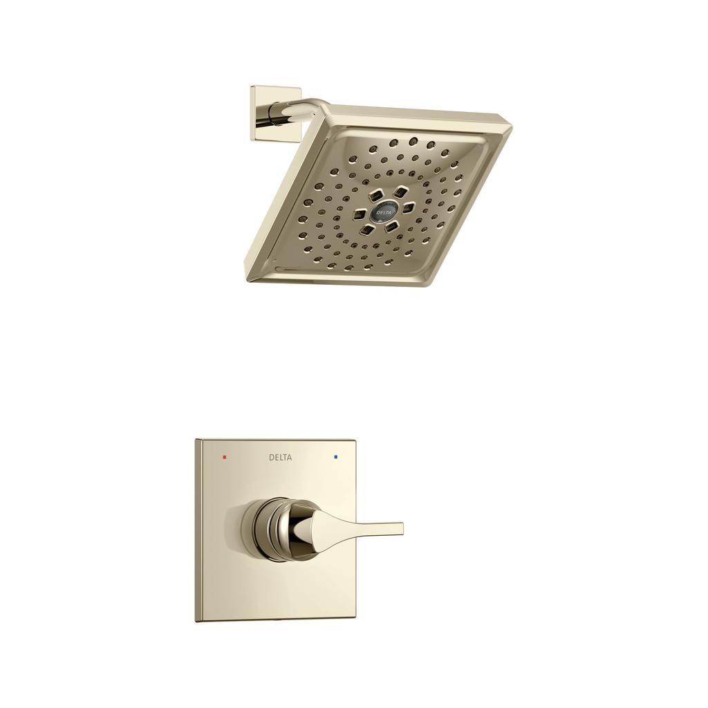 Delta T14274 Zura Monitor 14 Series H2okinetic Shower Trim Polished Nickel