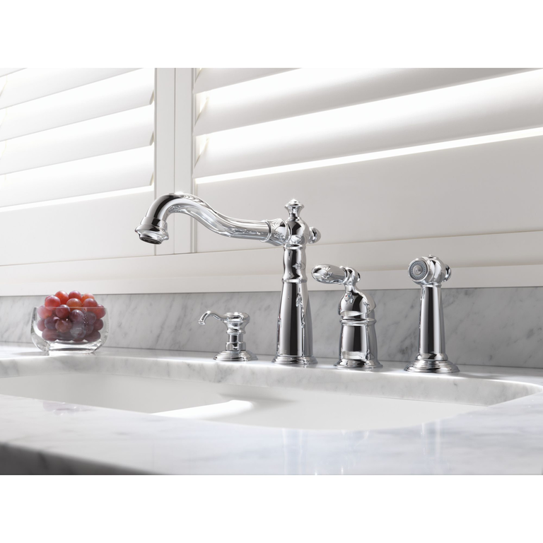 Delta 155 Victorian Single Handle Kitchen Faucet With ...