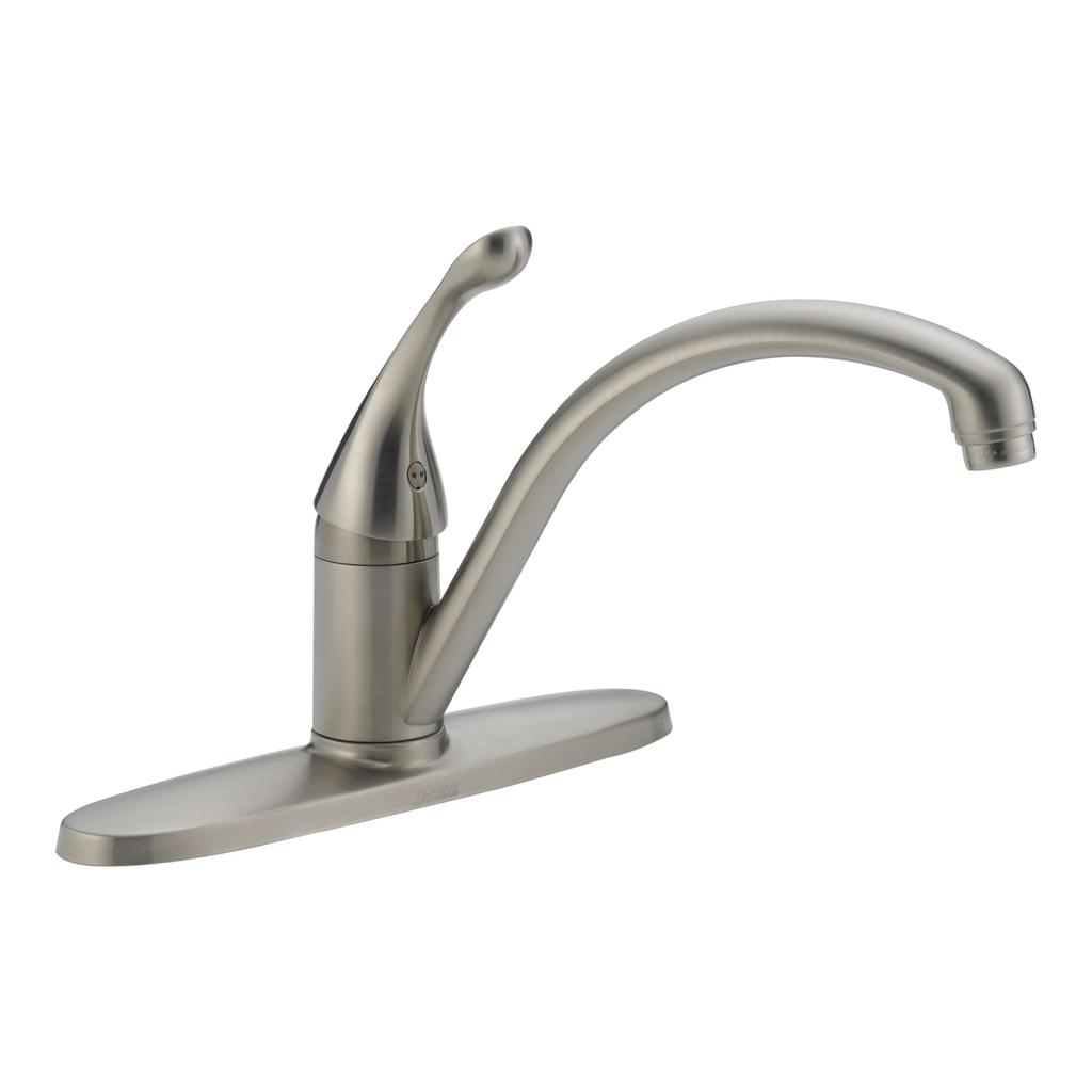 Delta 140 Collins Single Handle Kitchen Faucet Brilliance