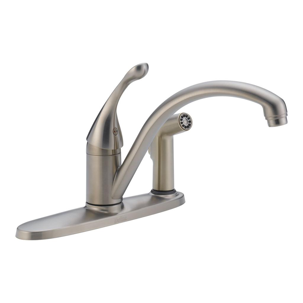 Delta 340 Collins Single Handle Kitchen Faucet Integral Spray