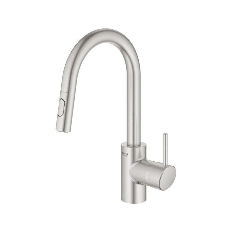 Grohe 32665003 Concetto Single Handle Kitchen Faucet Chrome Home Comfort Centre