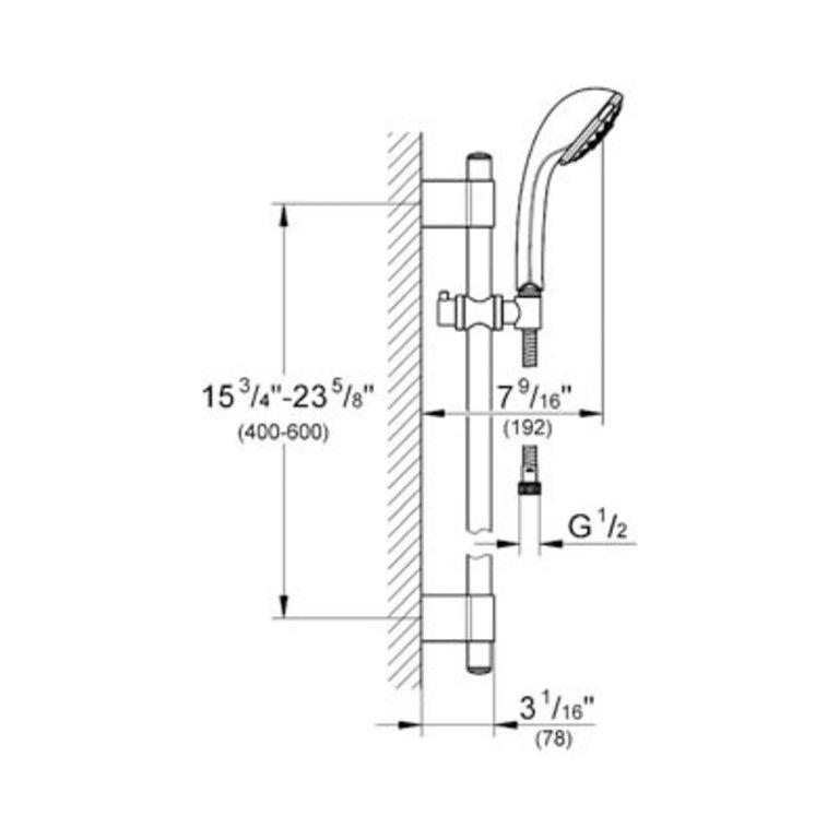 Grohe 28917en0 Relexa 100 Five Shower