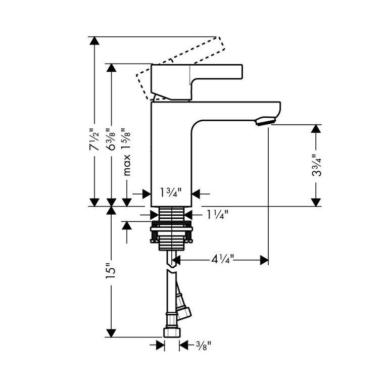 Hansgrohe 31060001 Metris S Single Hole Faucet Chrome Home Comfort