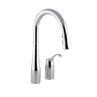 Kohler K596 Simplice Single Hole Kitchen Faucet Pull Down Spout