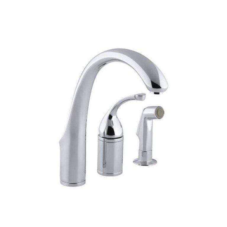 Kohler Kitchen Faucets.Kohler Kohler 10430 Cp Forte Single Control Remote Valve Kitchen Sink Faucet With Sidespray And Lever Handle