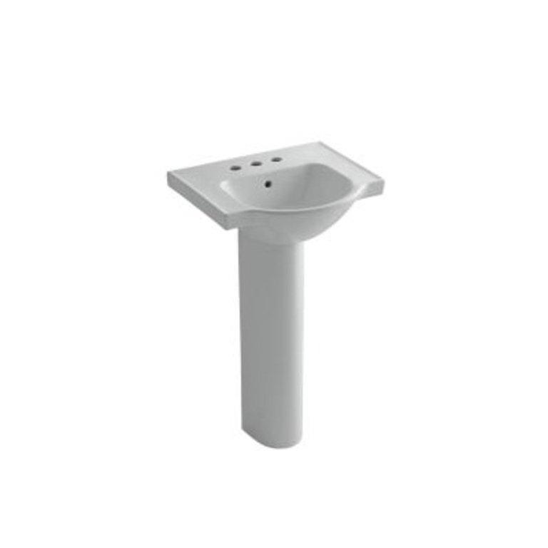 Kohler K5265 Veer 21 Pedestal Bathroom Sink 4 Centerset Faucet