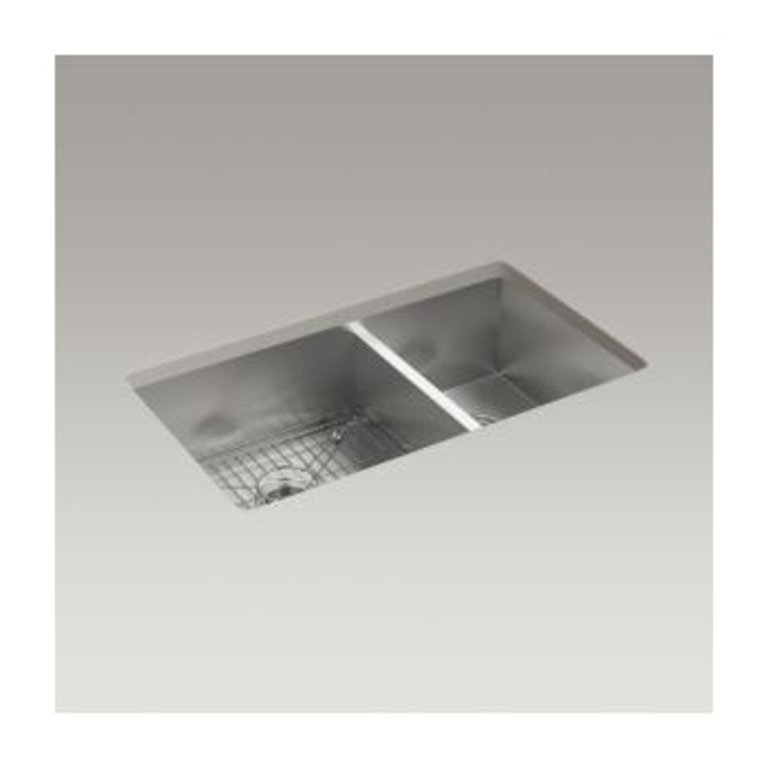 Kohler Kohler K3823 Vault 33 X 22 Double Kitchen Sink 4 Faucet Holes