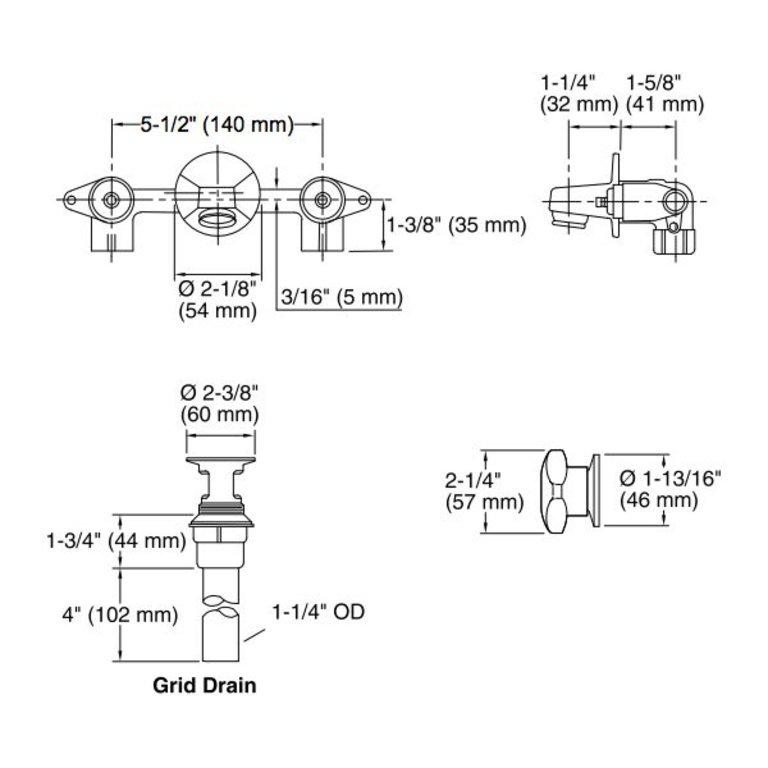 Kohler K8046 Triton Shelf Back Lavatory Faucet Cross Handles Home Comfort Centre
