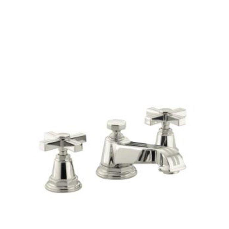 Kohler K13132 Pinstripe Widespread Lavatory Faucet Cross Handles