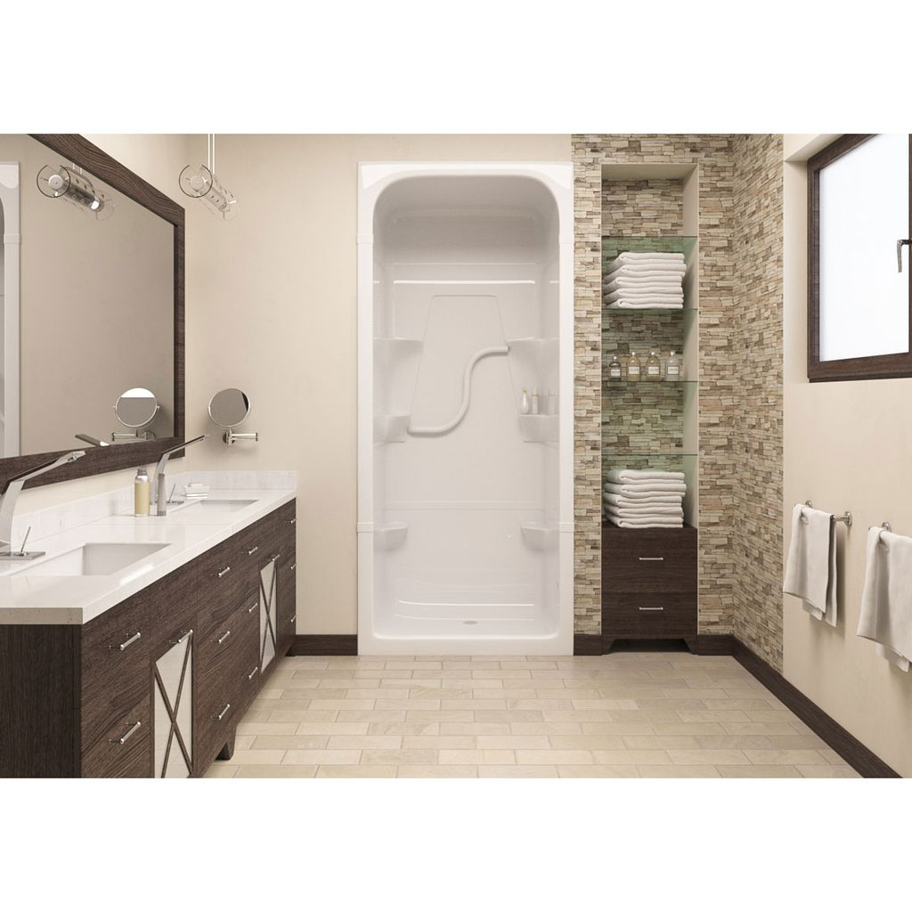 Mirolin Sh3l Madison 3 One Piece Shower Stall White Home Comfort