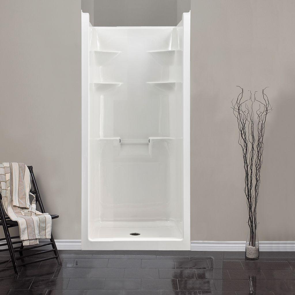 Mirolin Mel3 Melrose 3 One Piece Shower Stall White Home Comfort
