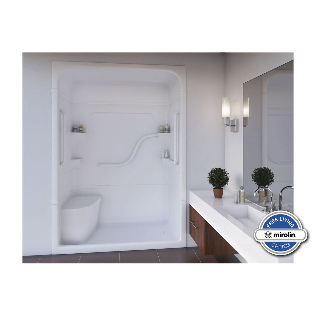 Mirolin Fs5ls Rs Madison 5 Free Living One Piece Shower Stall With