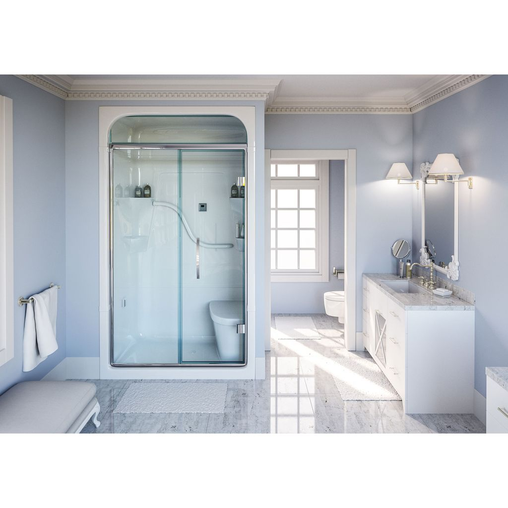 Mirolin Sh4ls Rs Madison 4 Shower Stall With Seat White