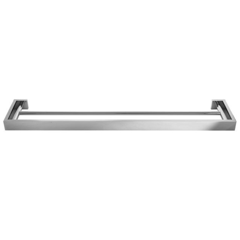 Laloo S1030dbn Steele Extended Double Towel Bar Brushed Nickel