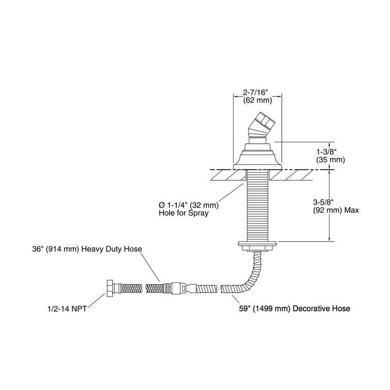 Kohler 10573 Bv Bancroft Deck Mount Handshower Holder Home Comfort