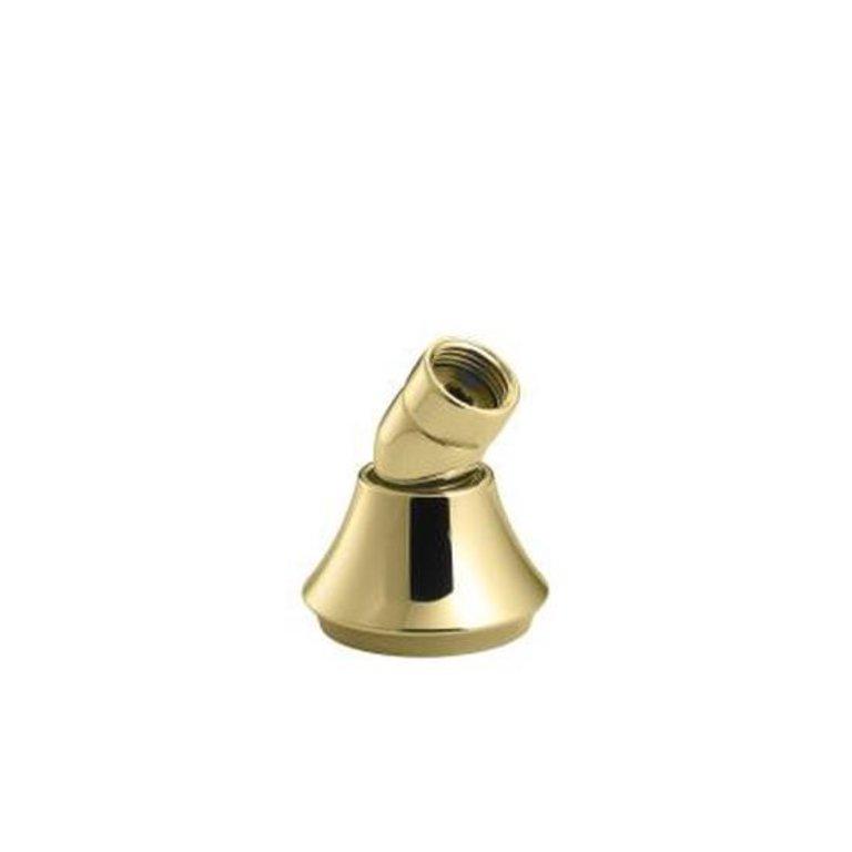 or Bath-Mount Handshower Holder with Hoses Vibrant Polished Brass Kohler K-368-PB Deck