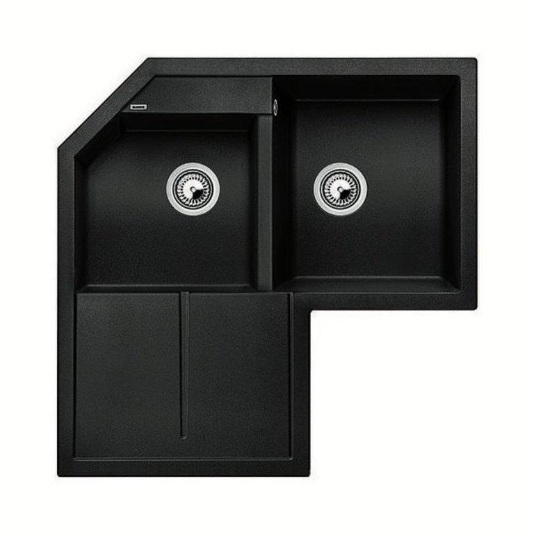 Blanco Blanco 400575 Metra 9e Double Corner Kitchen Sink With Drainboard