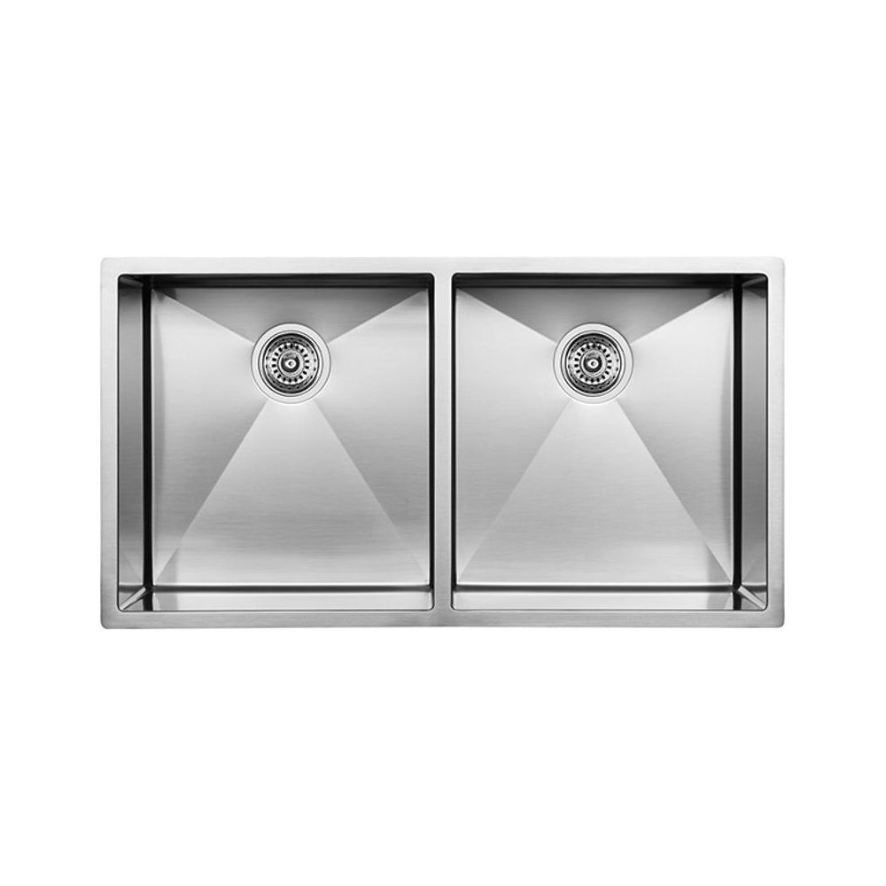 225 & Blanco 400452 Radius 10 U 2 Double Undermount Kitchen Sink