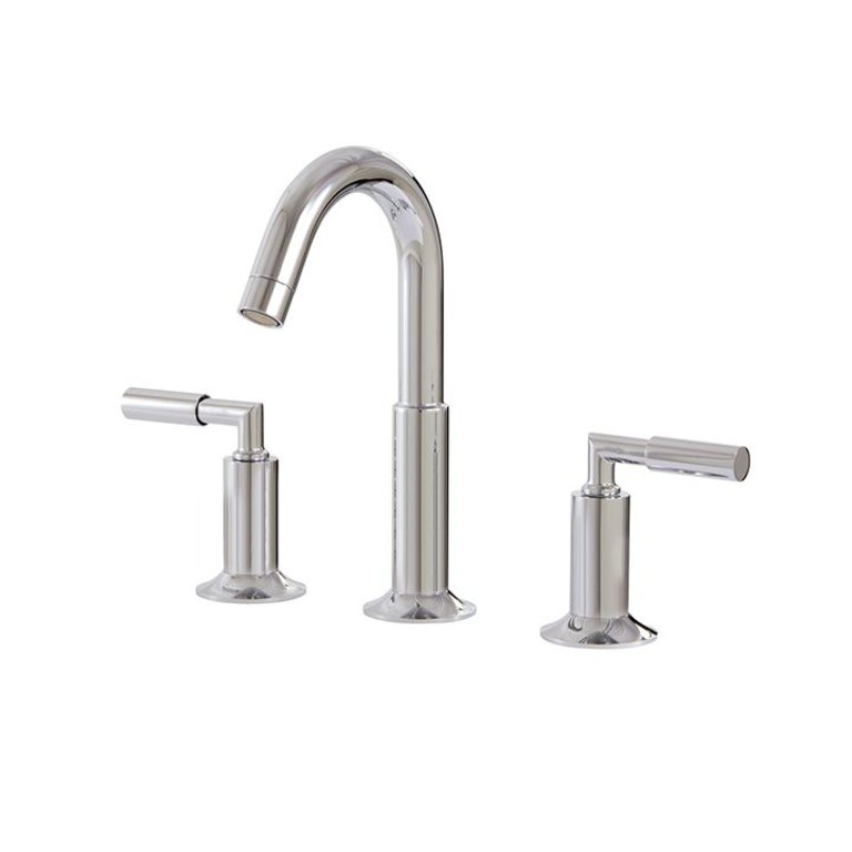 Aquabrass 27416 Geo Widespread Lavatory Faucet Brushed Nickel Home