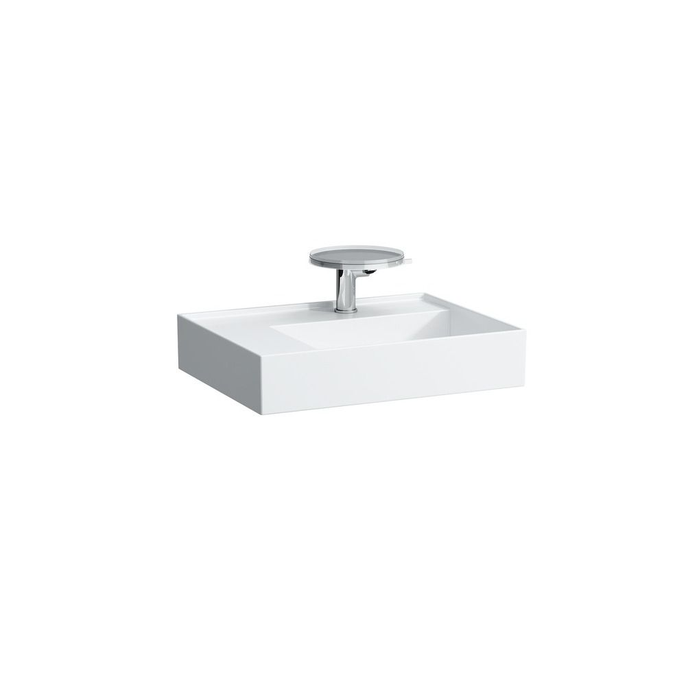 Kartell By Laufen Saphirkeramik.Laufen 810335 Kartell Washbasin Shelf Left One Tap Hole