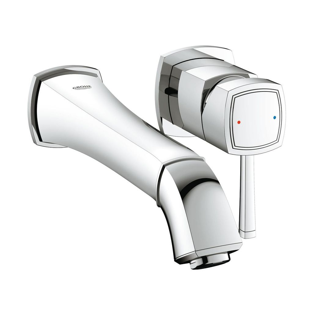 Grohe 1993100a Grandera Two Hole Wall Mount M Size Bathroom Faucet Chrome