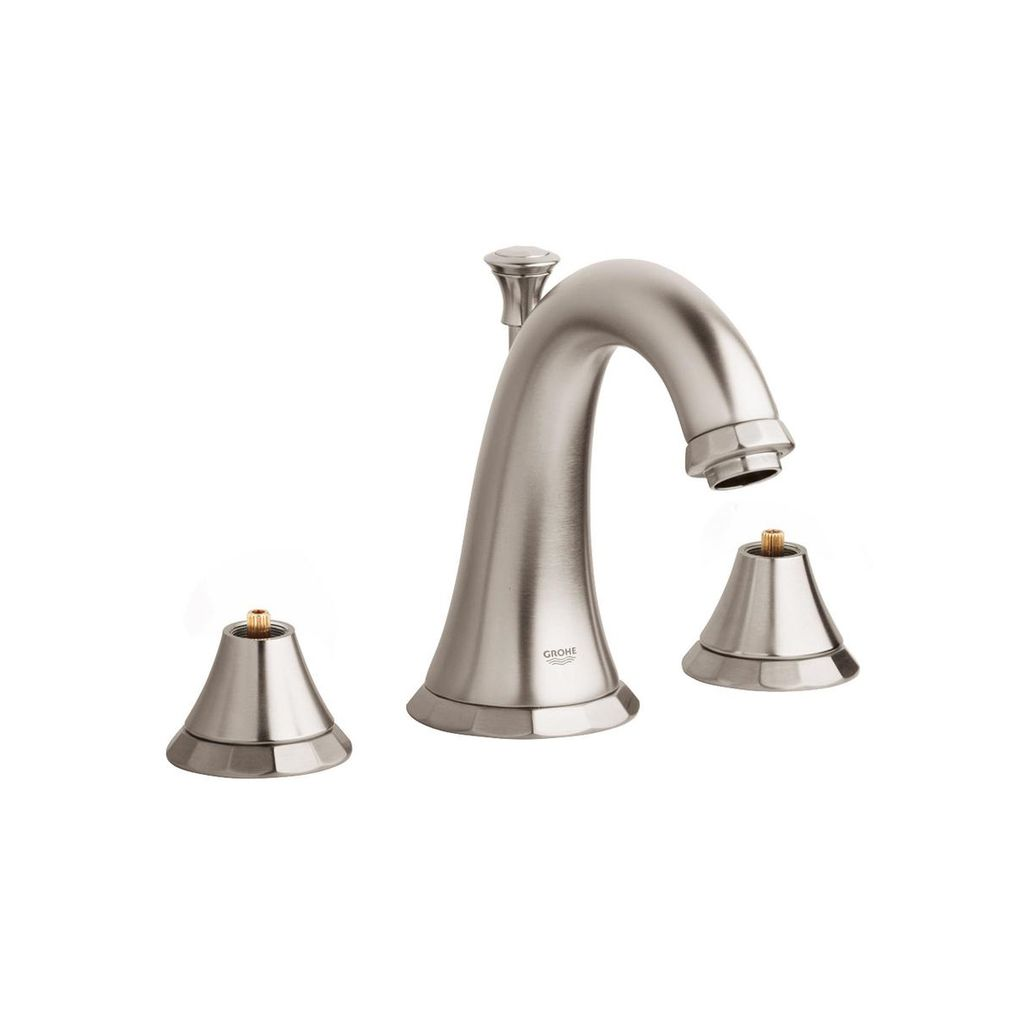 "Grohe 20124ENA Kensington 8"" Widespread Bathroom Faucet Brushed Nickel - Home Comfort Centre"