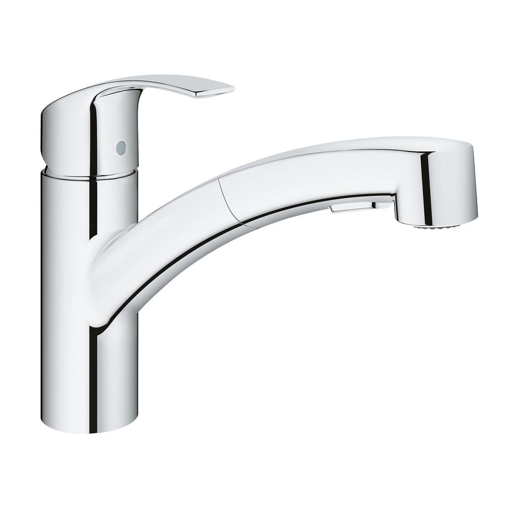 Grohe 30306000 Eurosmart Single Handle Pull Out Kitchen Faucet