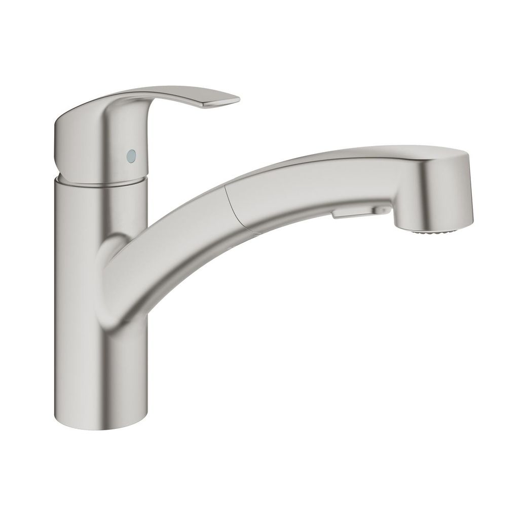 Grohe 30306dc0 Eurosmart Single Handle Pull Out Kitchen Faucet Super