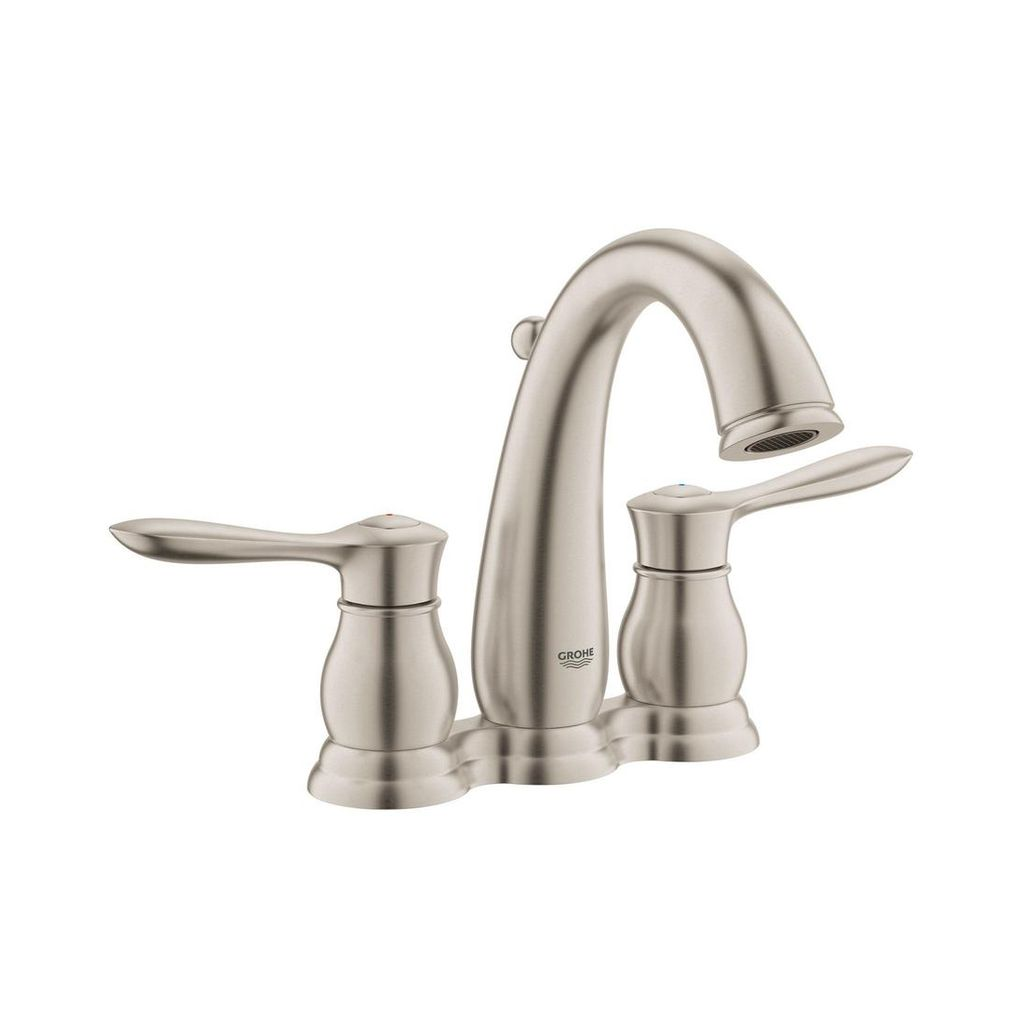 "Grohe 20391ENA Parkfield 4"" Centerset Bathroom Faucet Brushed Nickel - Home Comfort Centre"