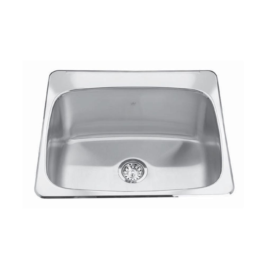 Kindred Qsl2225 12 22 X 25 Single Bowl Laundry Sink 1 Hole Home