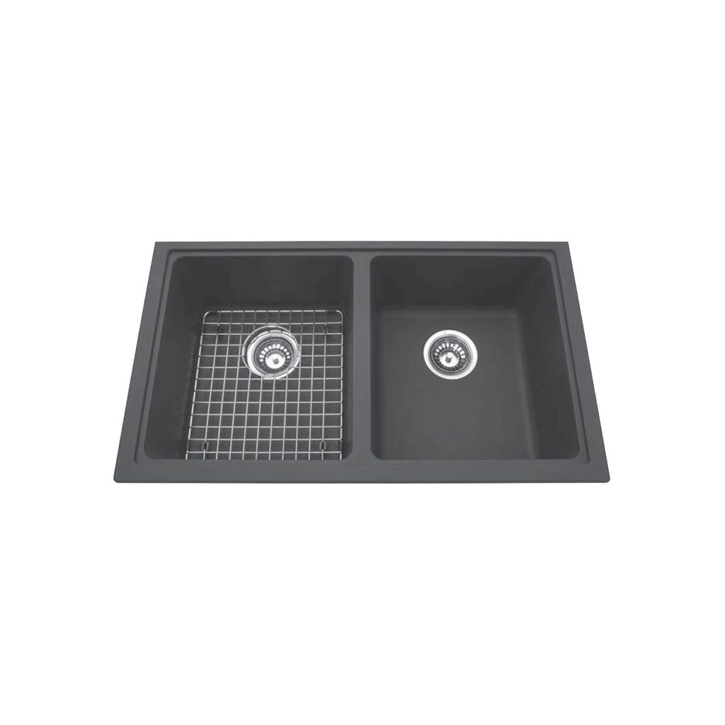 Kindred Kgd1u 8 31 X 18 Granite Undermount Double Sink Champagne