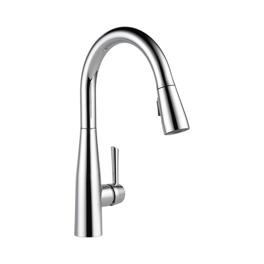 Delta 9113 Essa Single Handle Pull Down Kitchen Faucet Chrome Home