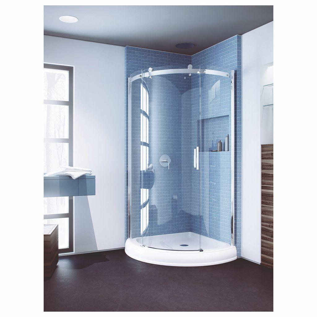 Slik Flow 36 Round Shower Door Left Clear Gl Chrome