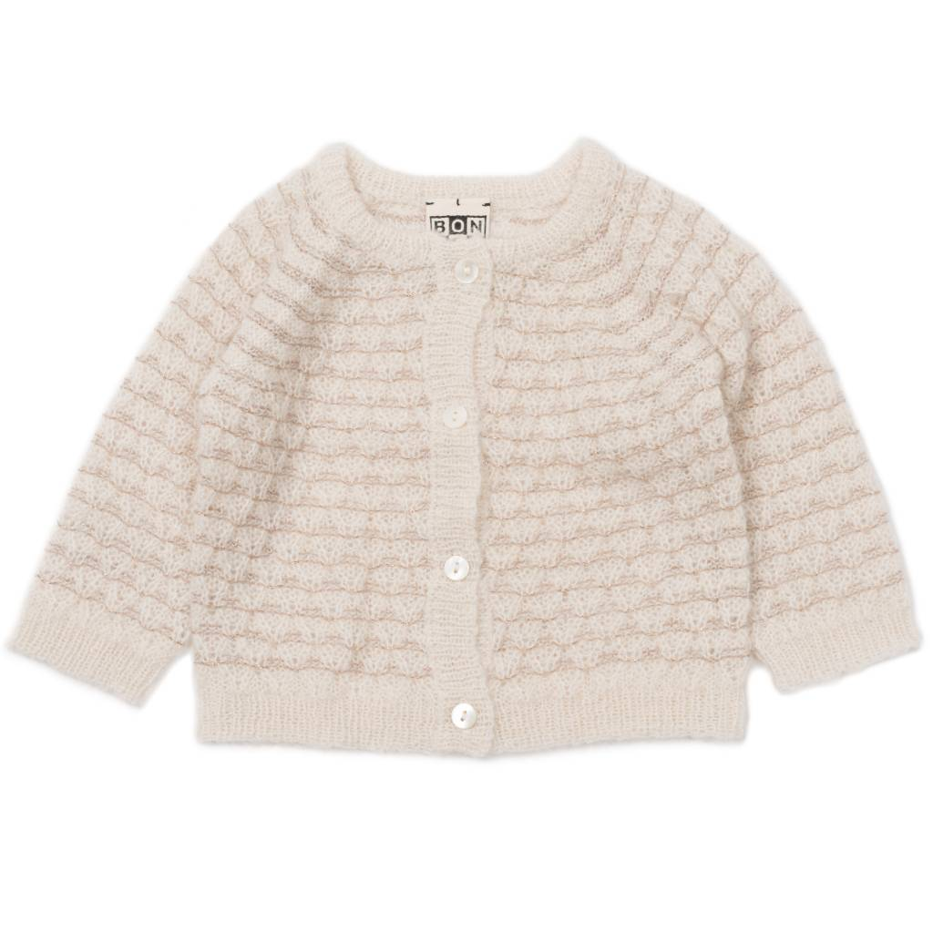 Cardigan Mohair Lurex Off White