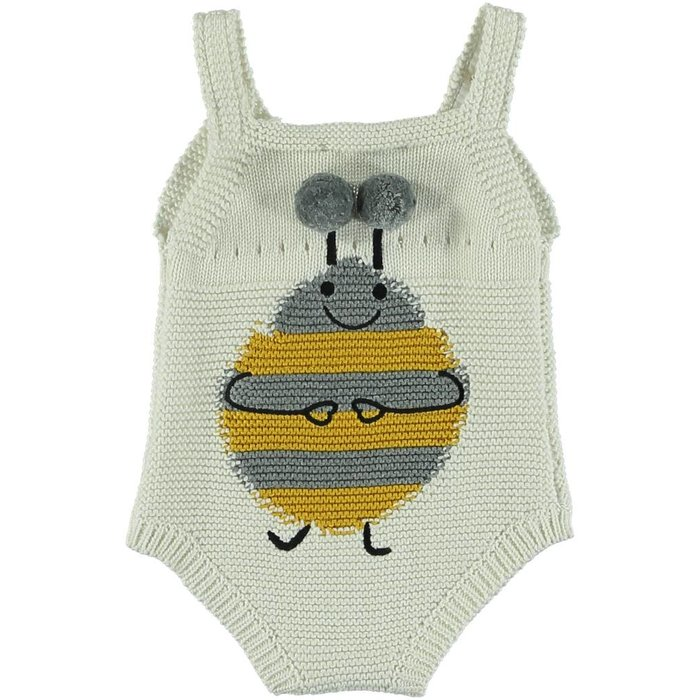 Knit Romper with Bees
