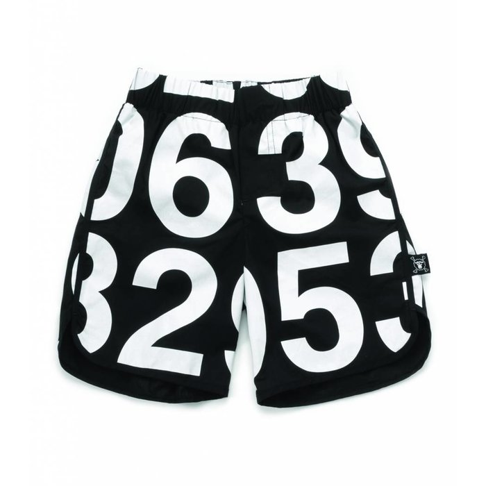 Numbered Swim Shorts Black