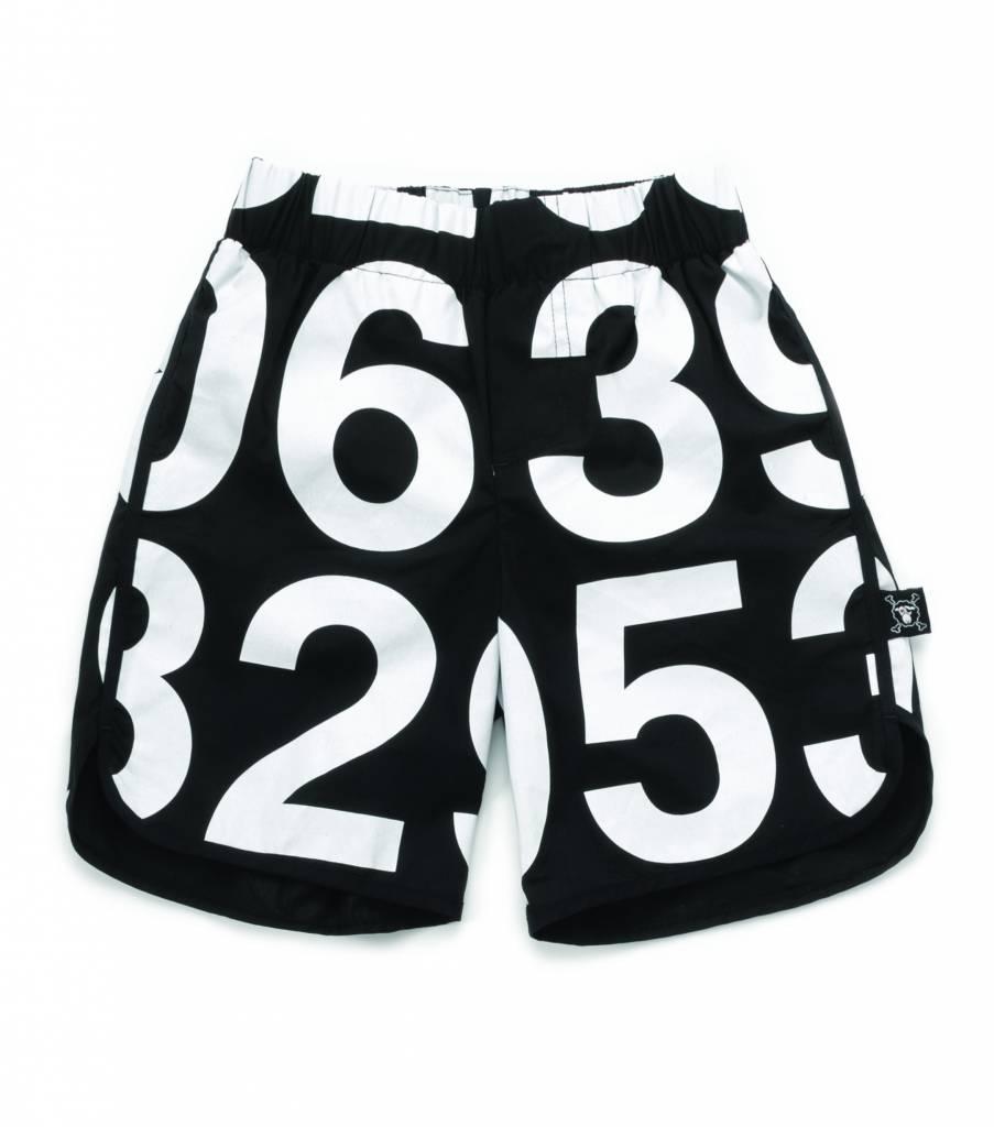 Numbered Swim Shorts Black
