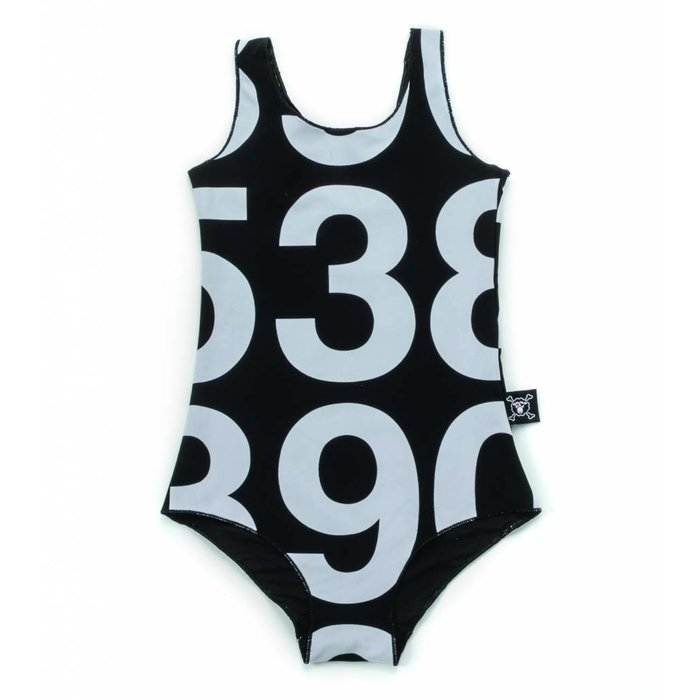 Numbered Swimsuit Black