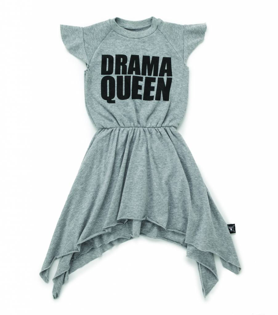 Drama Queen Dress Heather Grey