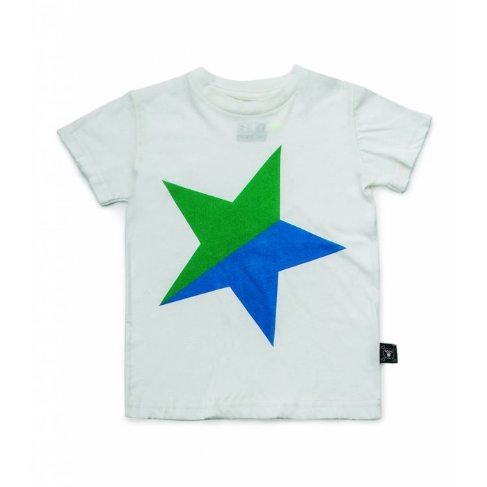 Colorful Star Tshirt White/Green