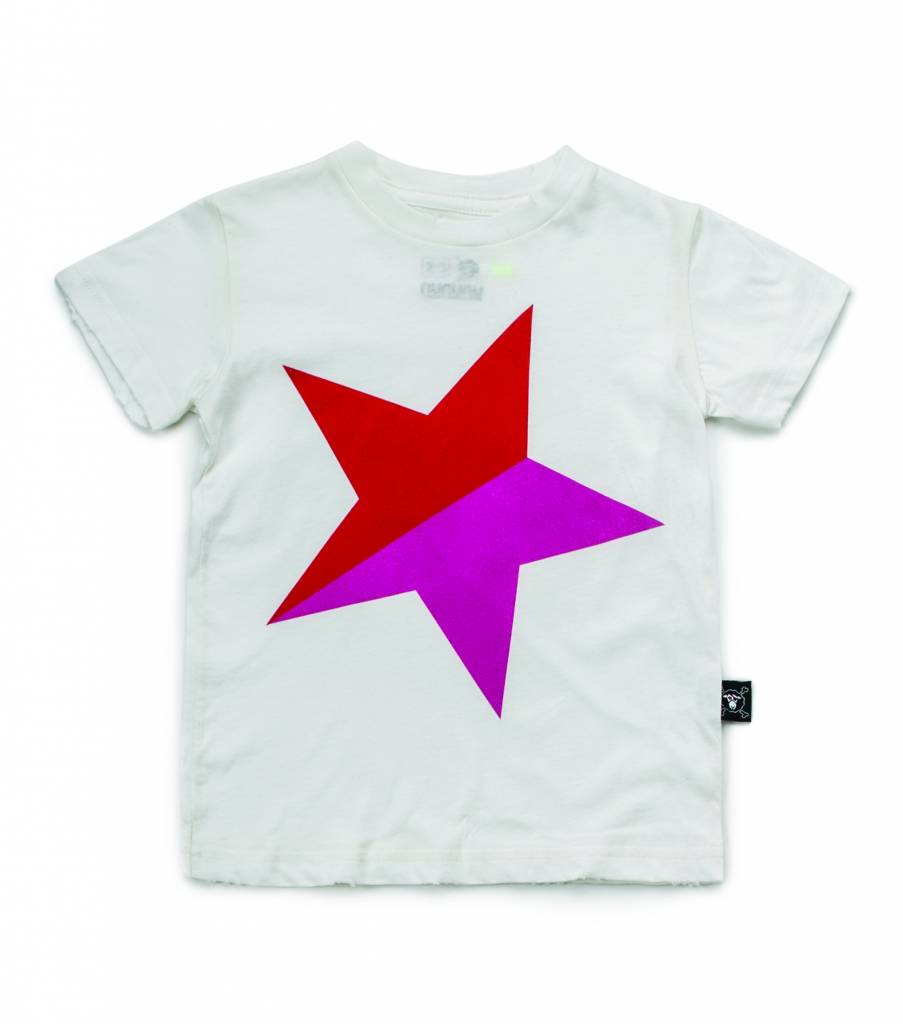 Colorful Star Tshirt Whit/Red