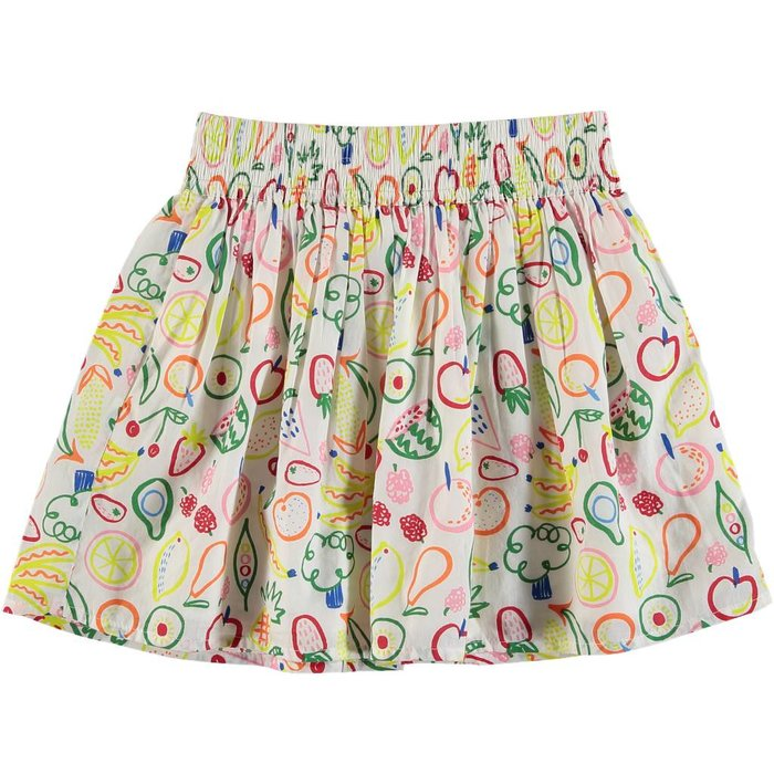 Small Fruit Print Skirt Multi